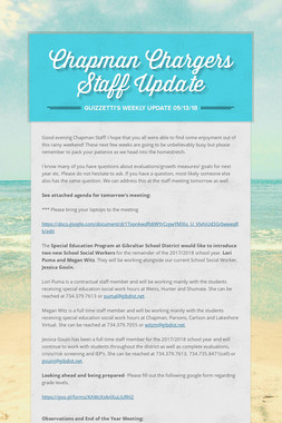 Chapman Chargers Staff Update