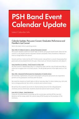 PSH Band Event Calendar Update