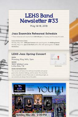 LEHS Band Newsletter #33