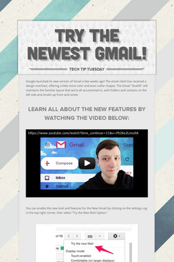 TRY THE NEWEST GMAIL!