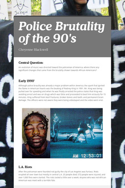 Police Brutality of the 90's