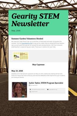 Gearity STEM Newsletter