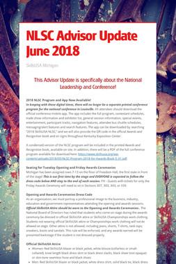 NLSC Advisor Update June 2018