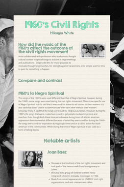 1960's Civil Rights