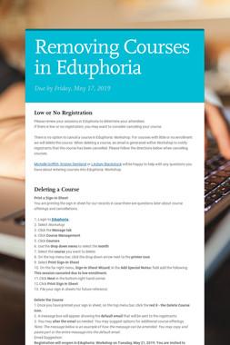 Removing Courses in Eduphoria