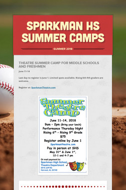 Sparkman HS Summer Camps