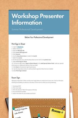 Workshop Presenter Information