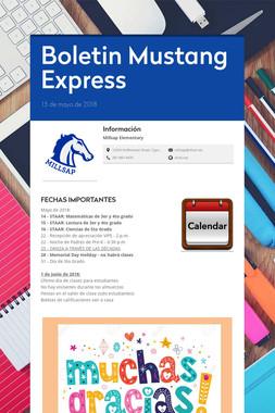 Boletin Mustang Express