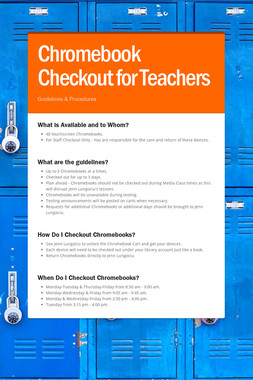 Chromebook Checkout for Teachers