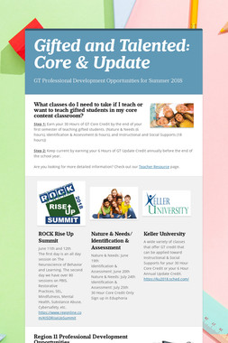 Gifted and Talented: Core & Update