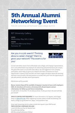 5th Annual Alumni Networking Event