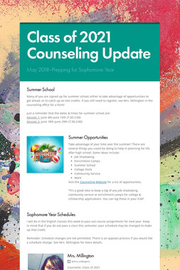 Class of 2021 Counseling Update
