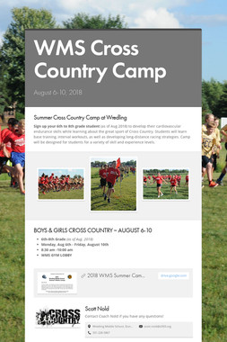 WMS Cross Country Camp