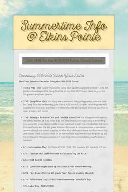 Summertime Info @ Elkins Pointe