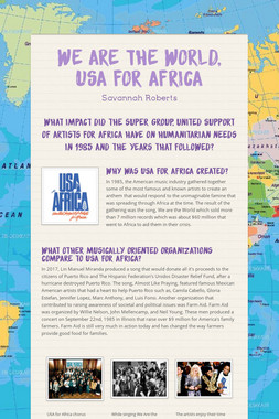 We are the World, USA for Africa