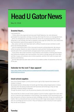 Head U Gator News