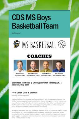 CDS MS Boys Basketball Team