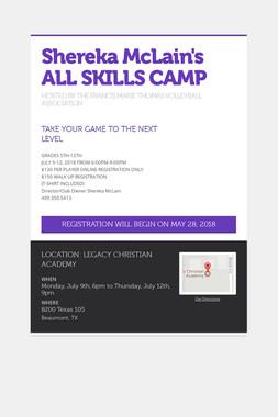 Shereka McLain's ALL SKILLS CAMP