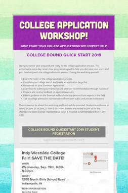 College Application Workshop!