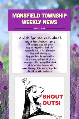 Mansfield Township Weekly News