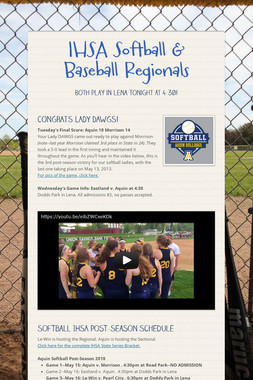 IHSA Softball & Baseball Regionals