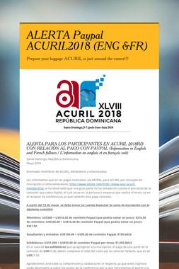 ALERTA Paypal ACURIL2018 (ENG &FR)