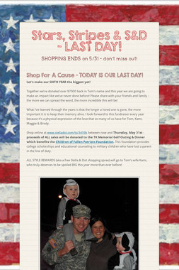 Stars, Stripes & S&D - LAST DAY!
