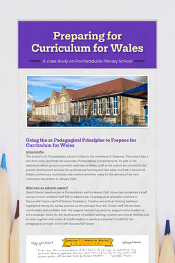 Preparing for Curriculum for Wales