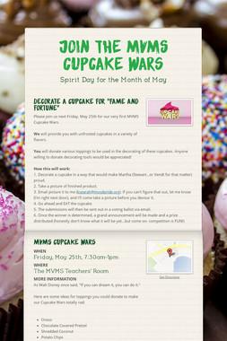 Join the MVMS Cupcake Wars
