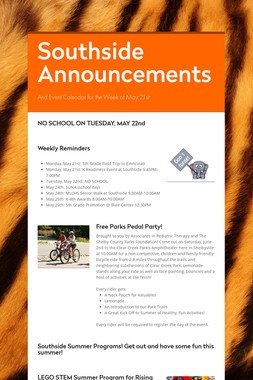 Southside Announcements