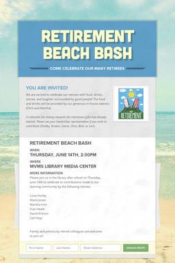 Retirement Beach Bash