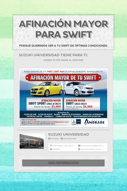 AFINACIÓN MAYOR PARA SWIFT