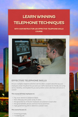 Learn Winning Telephone Techniques
