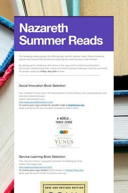 Nazareth Summer Reads