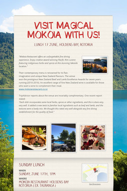 VISIT MAGICAL MOKOIA WITH US!