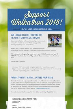 Support Walkathon 2018!