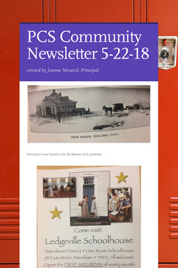 PCS Community Newsletter 5-22-18