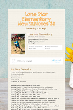 Lone Star Elementary News&Notes 38