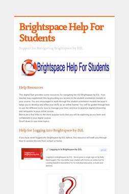 Brightspace Help For Students