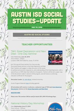 Austin ISD Social Studies-Update