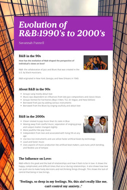 Evolution of R&B:1990's to 2000's