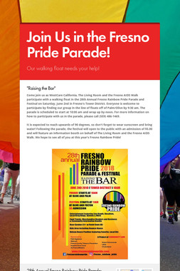 Join Us in the Fresno Pride Parade!