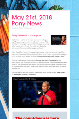 May 21st, 2018 Pony News