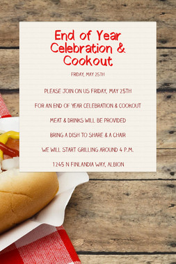 End of Year Celebration & Cookout