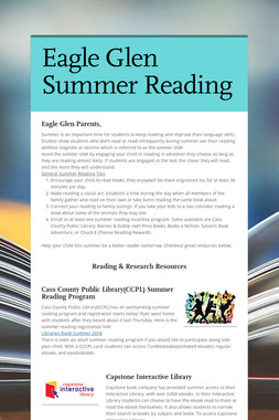 Eagle Glen Summer Reading