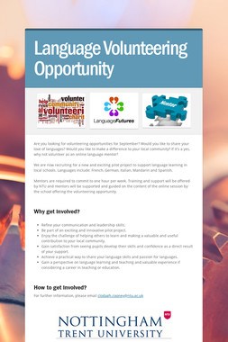 Language Volunteering Opportunity