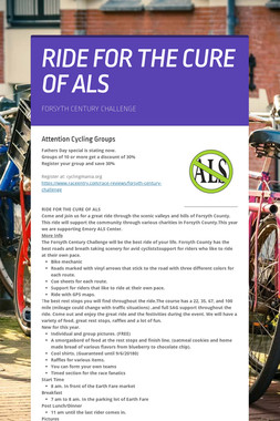 RIDE FOR THE CURE OF ALS