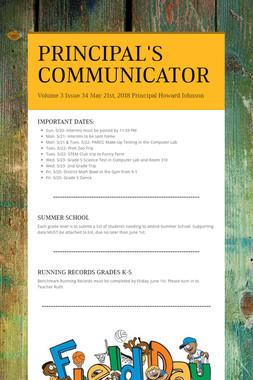 PRINCIPAL'S COMMUNICATOR