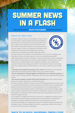 Summer News in a Flash