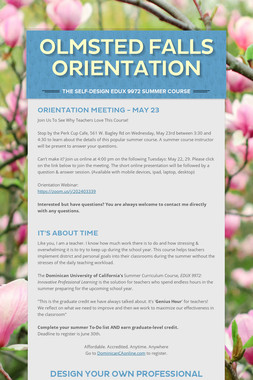 Olmsted Falls Orientation